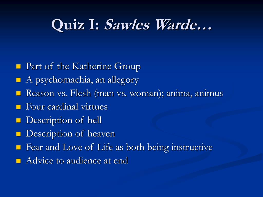 Quiz I: