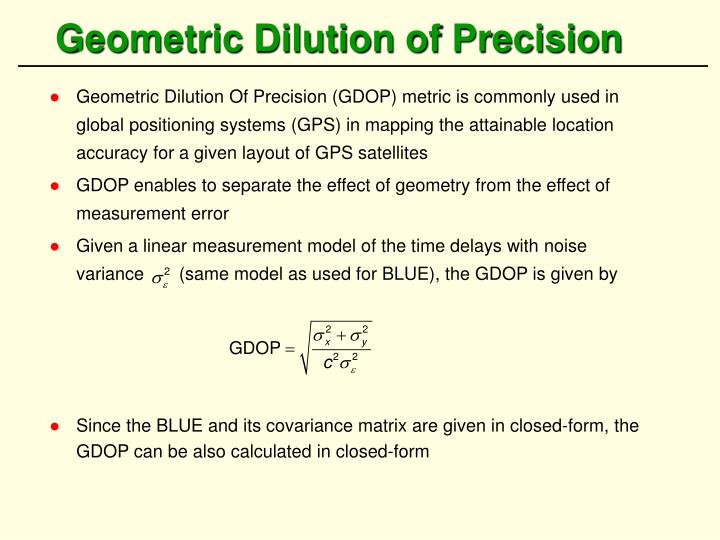 Geometric Dilution of Precision