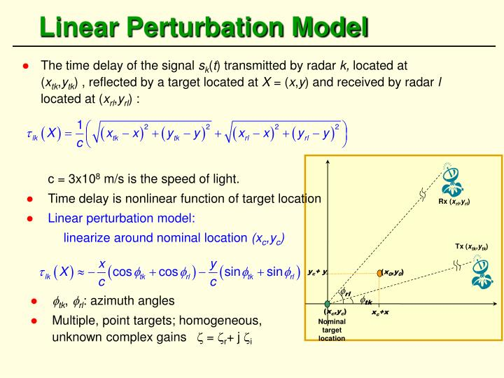 Linear Perturbation Model