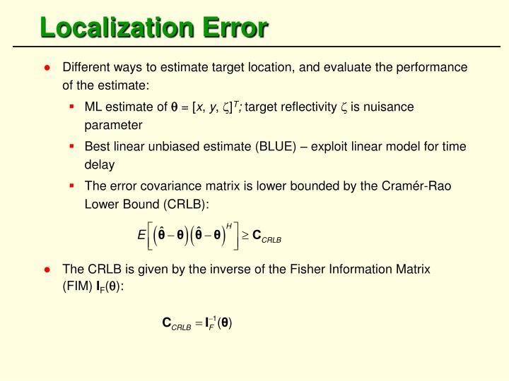Localization Error