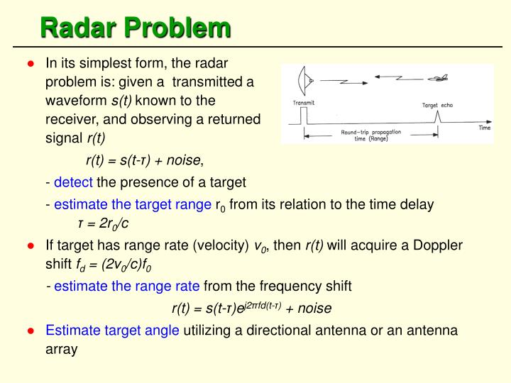 Radar Problem
