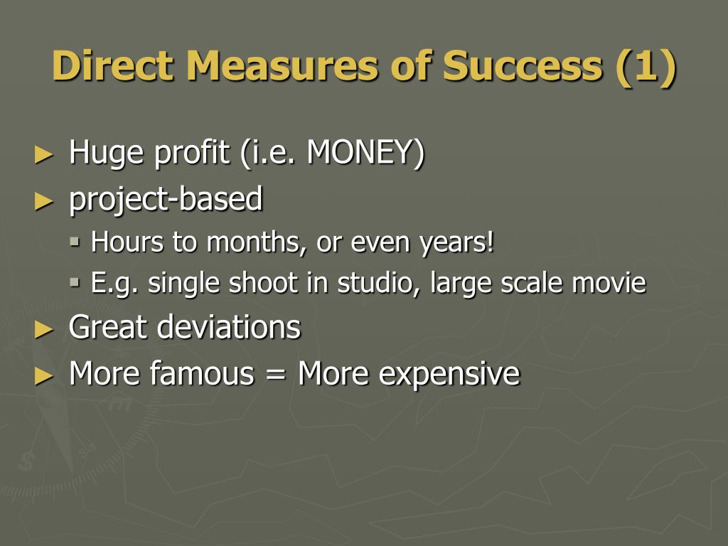 Direct Measures of Success (1)