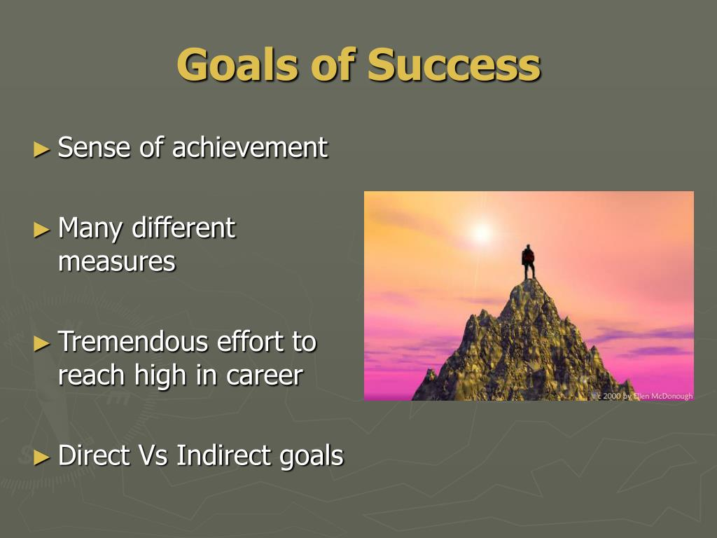 Goals of Success