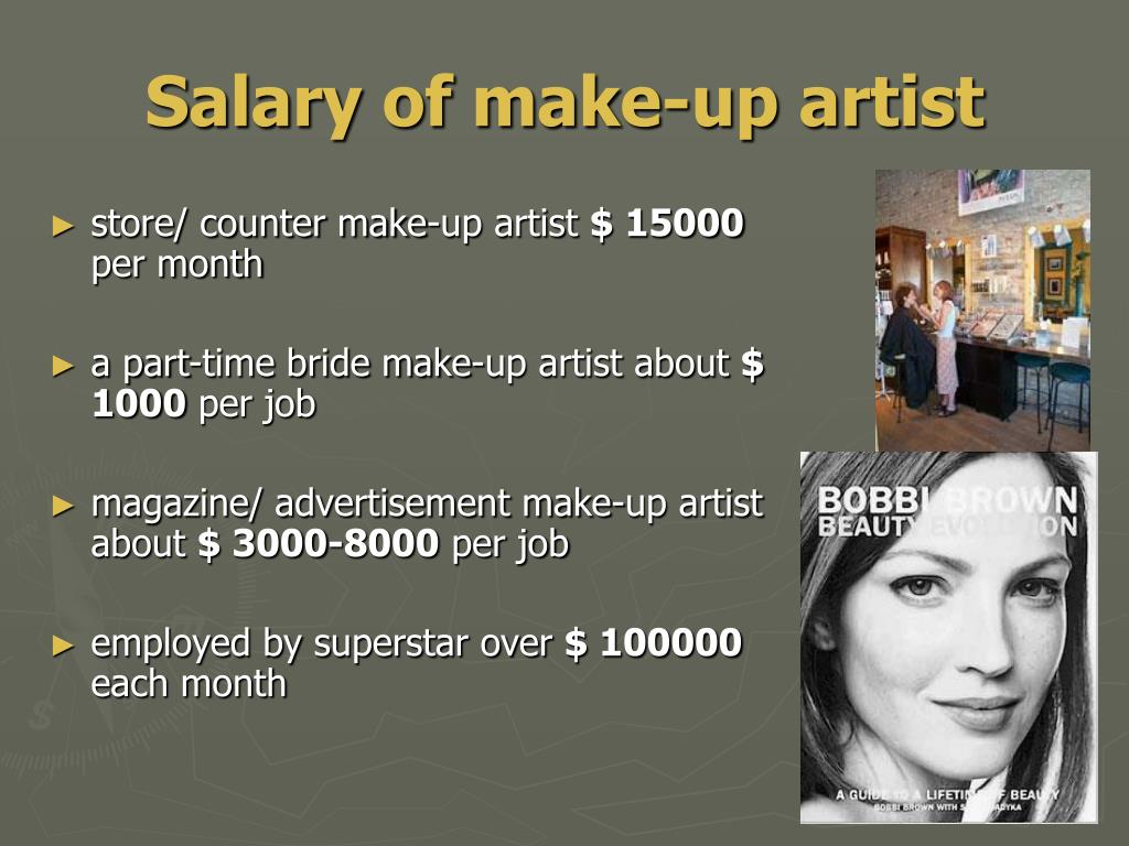 Salary of make-up artist