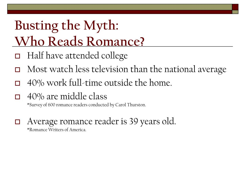 Busting the Myth: