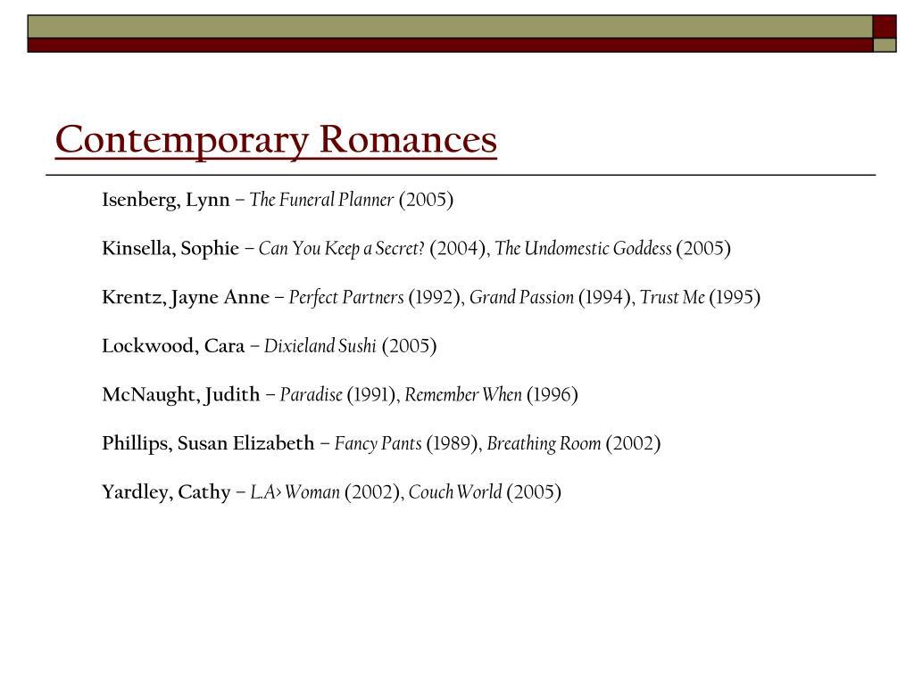 Contemporary Romances