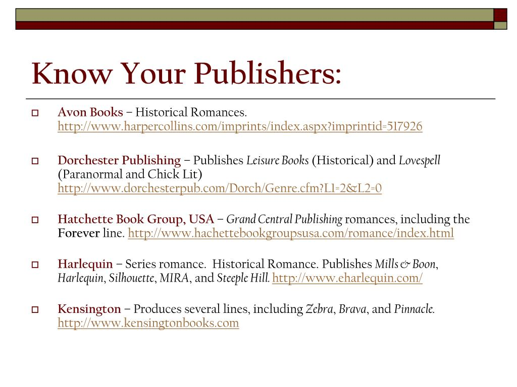 Know Your Publishers: