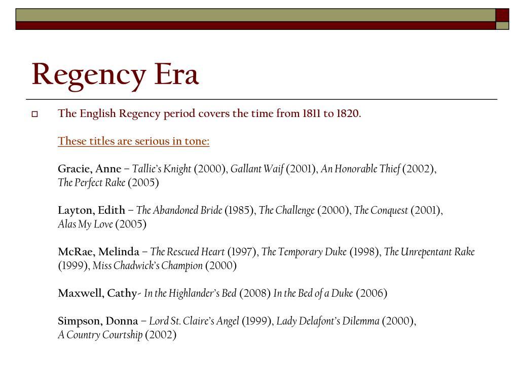 Regency Era