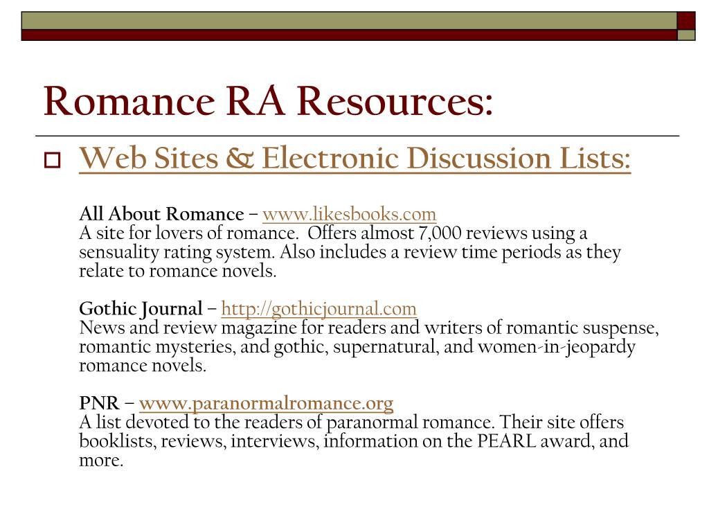 Romance RA Resources: