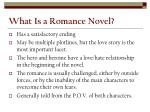 what is a romance novel