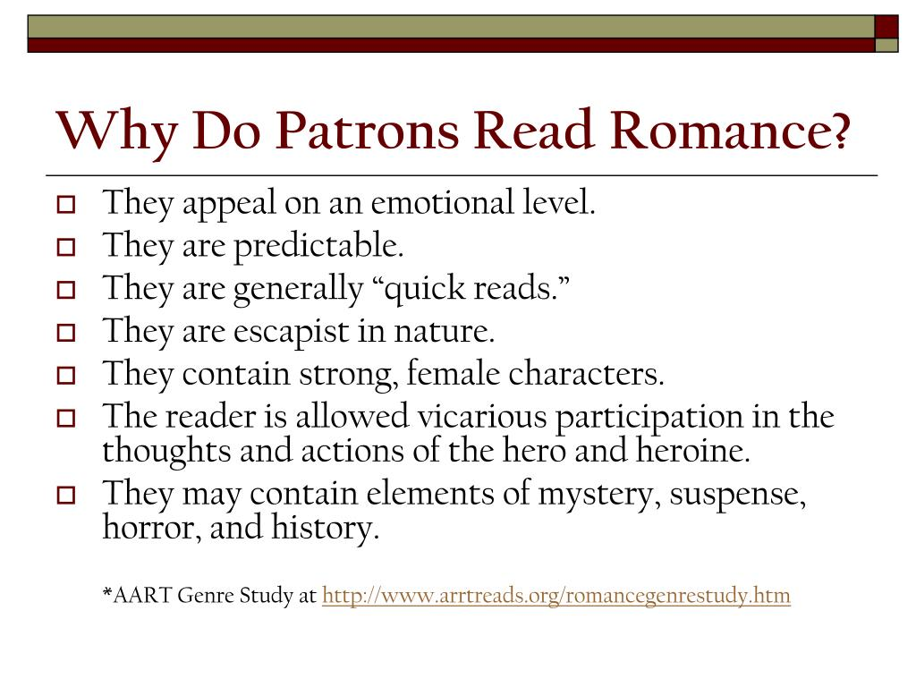 Why Do Patrons Read Romance?