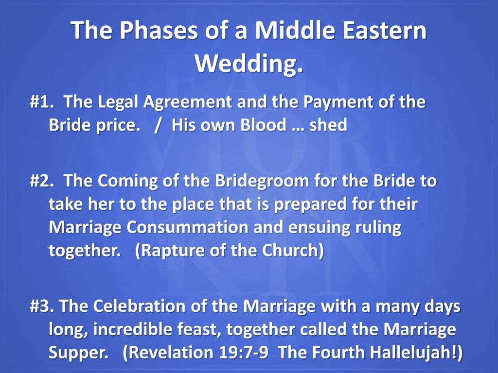 #1.  The Legal Agreement and the Payment of the Bride price.   /  His own Blood … shed