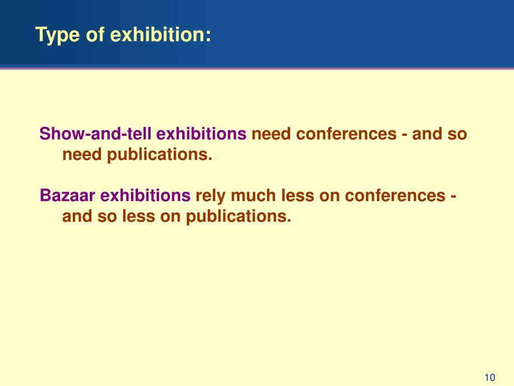 Type of exhibition: