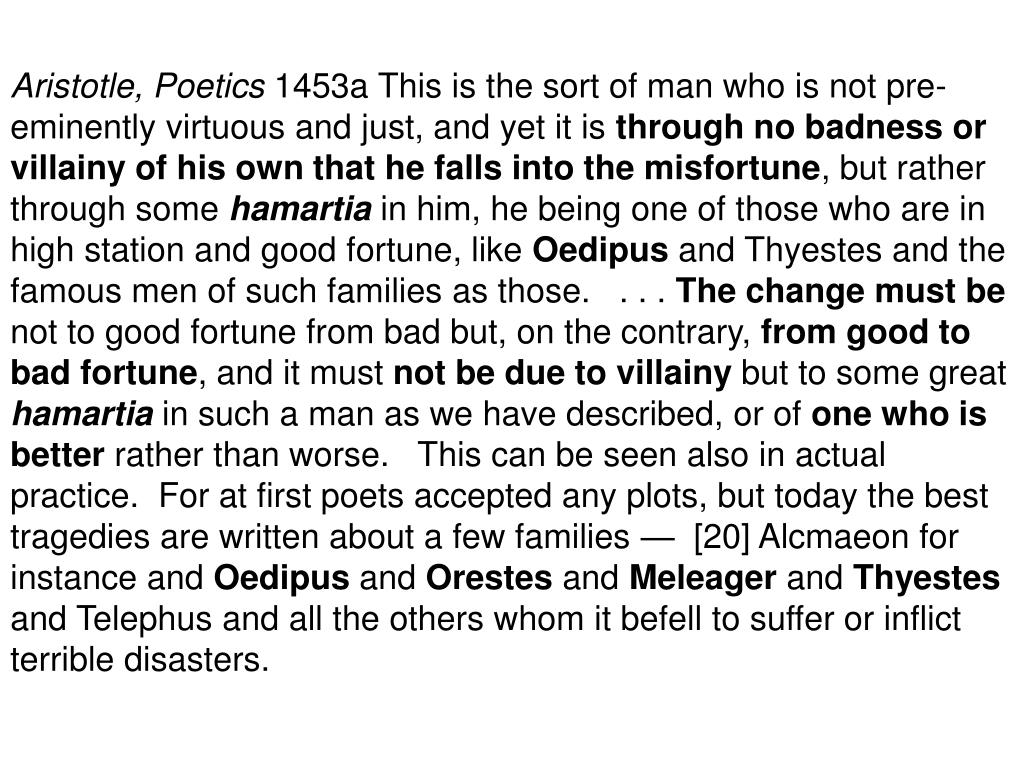 Aristotle, Poetics