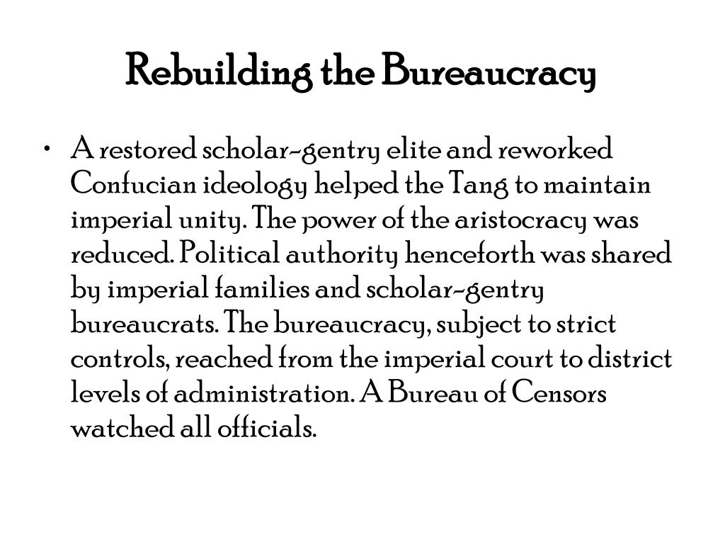 Rebuilding the Bureaucracy