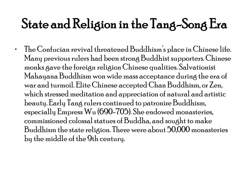 State and Religion in the Tang-Song Era