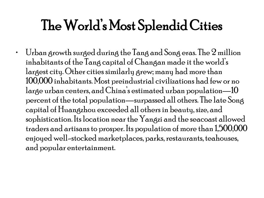 The World's Most Splendid Cities