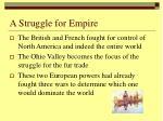 a struggle for empire