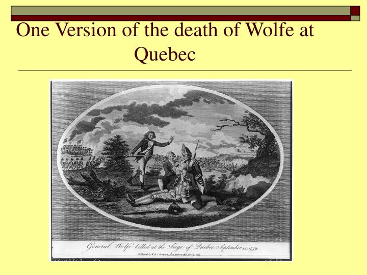 One Version of the death of Wolfe at Quebec