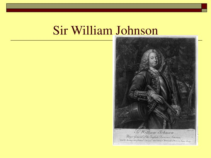 Sir William Johnson