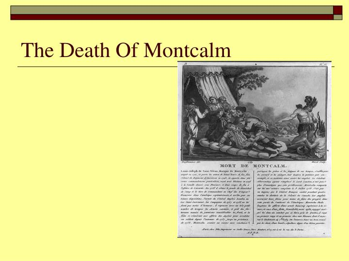 The Death Of Montcalm