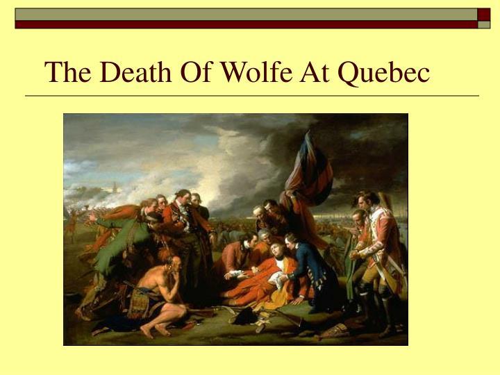 The Death Of Wolfe At Quebec