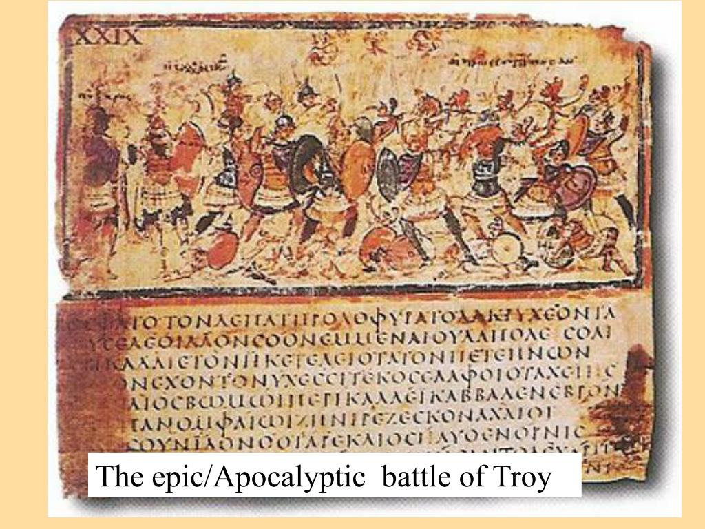 The epic/Apocalyptic  battle of Troy