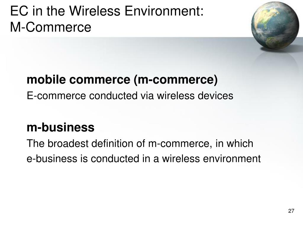 EC in the Wireless Environment: