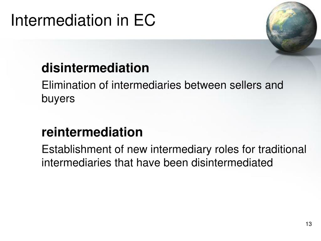 Intermediation in EC