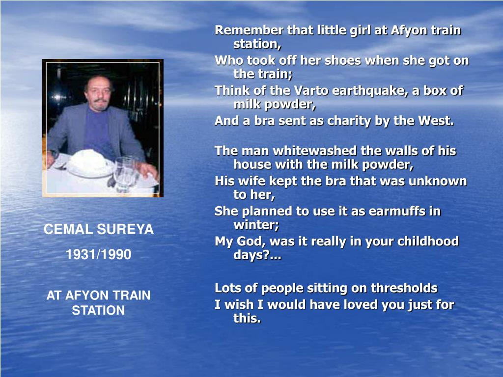 Remember that little girl at Afyon train station,