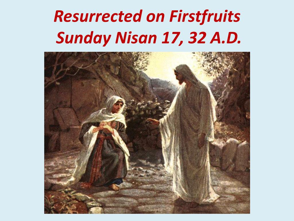 Resurrected on Firstfruits