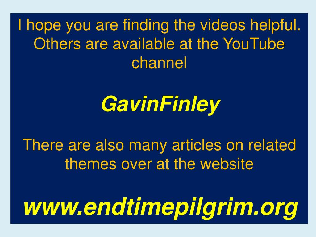 I hope you are finding the videos helpful. Others are available at the YouTube channel