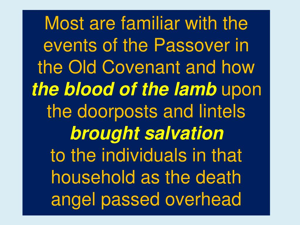 Most are familiar with the events of the Passover in