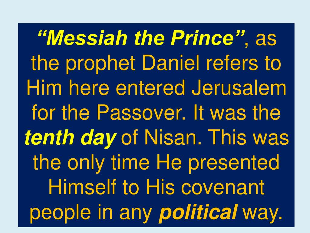 """Messiah the Prince"""