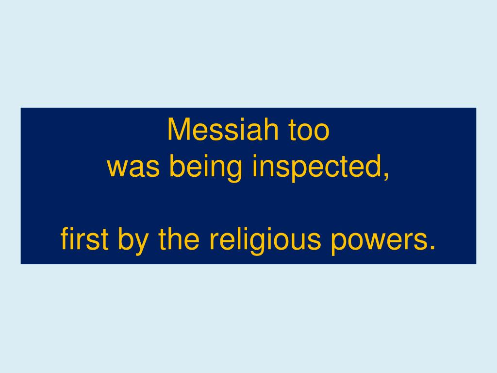 Messiah too