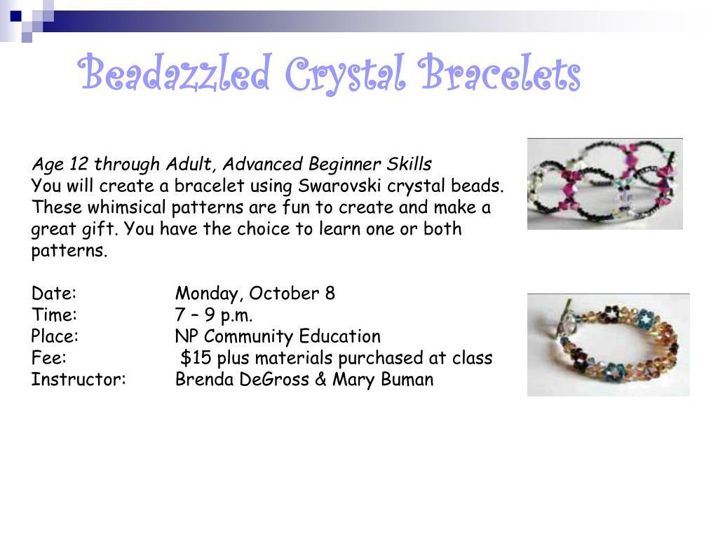 Beadazzled Crystal Bracelets