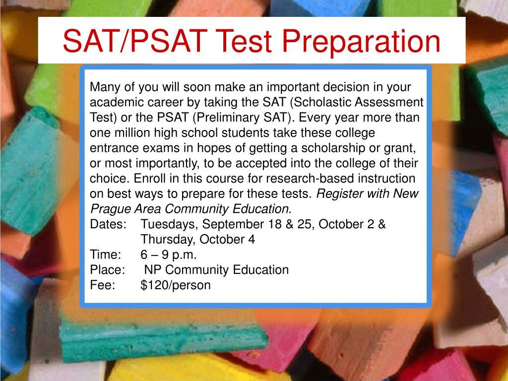 SAT/PSAT Test Preparation