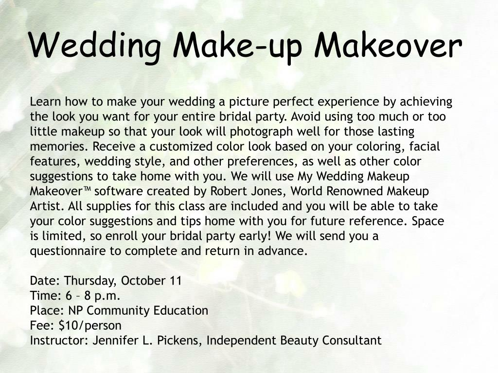 Wedding Make-up Makeover
