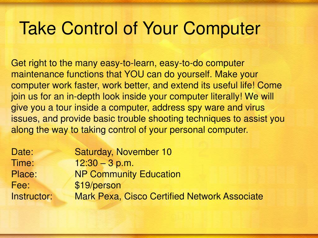 Take Control of Your Computer