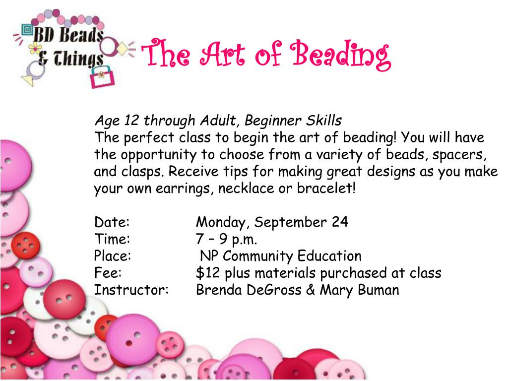 The Art of Beading