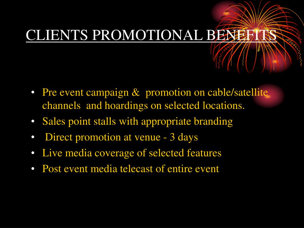 CLIENTS PROMOTIONAL BENEFITS