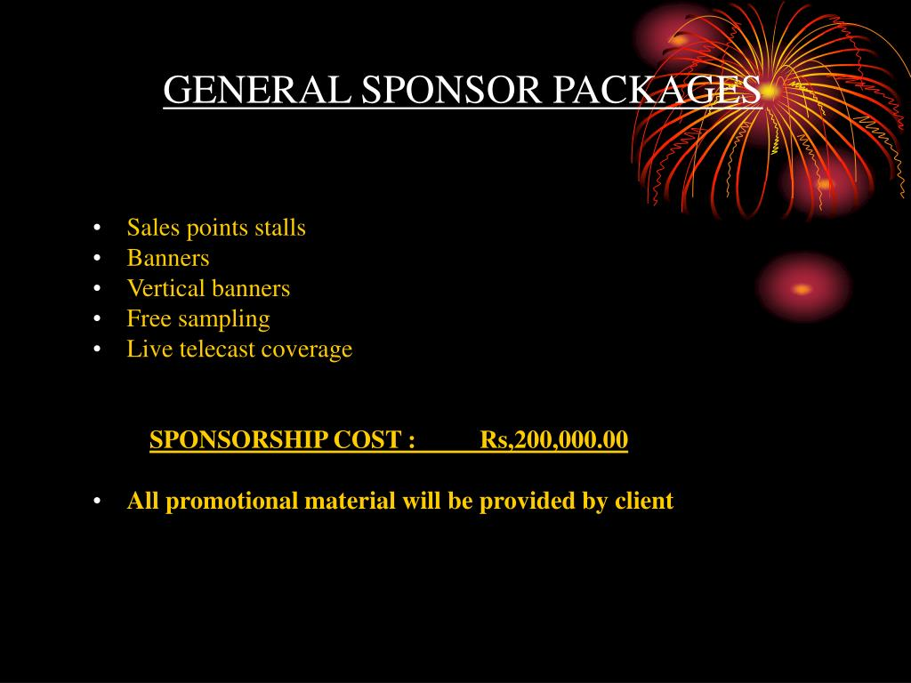 GENERAL SPONSOR PACKAGES