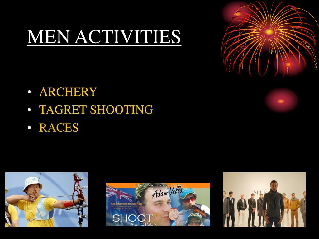 MEN ACTIVITIES