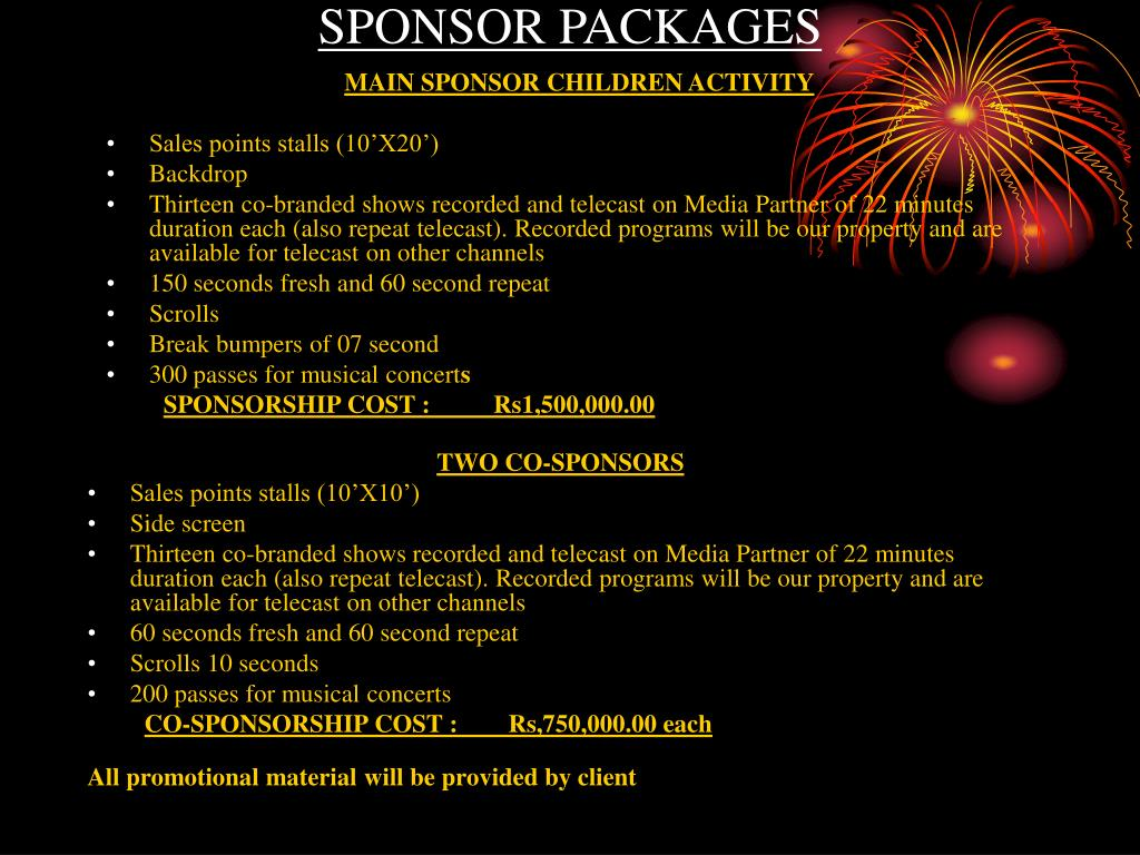 SPONSOR PACKAGES