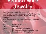 beaded wire jewelry
