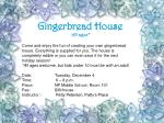 gingerbread house all ages