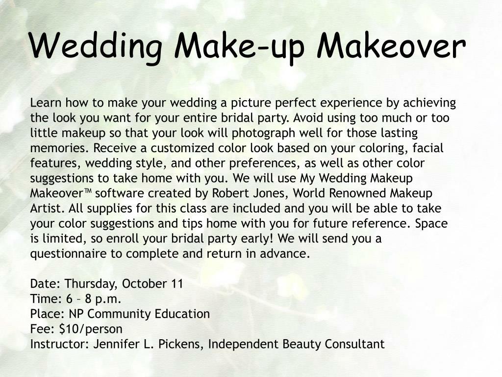 Wedding Make-up Makeover