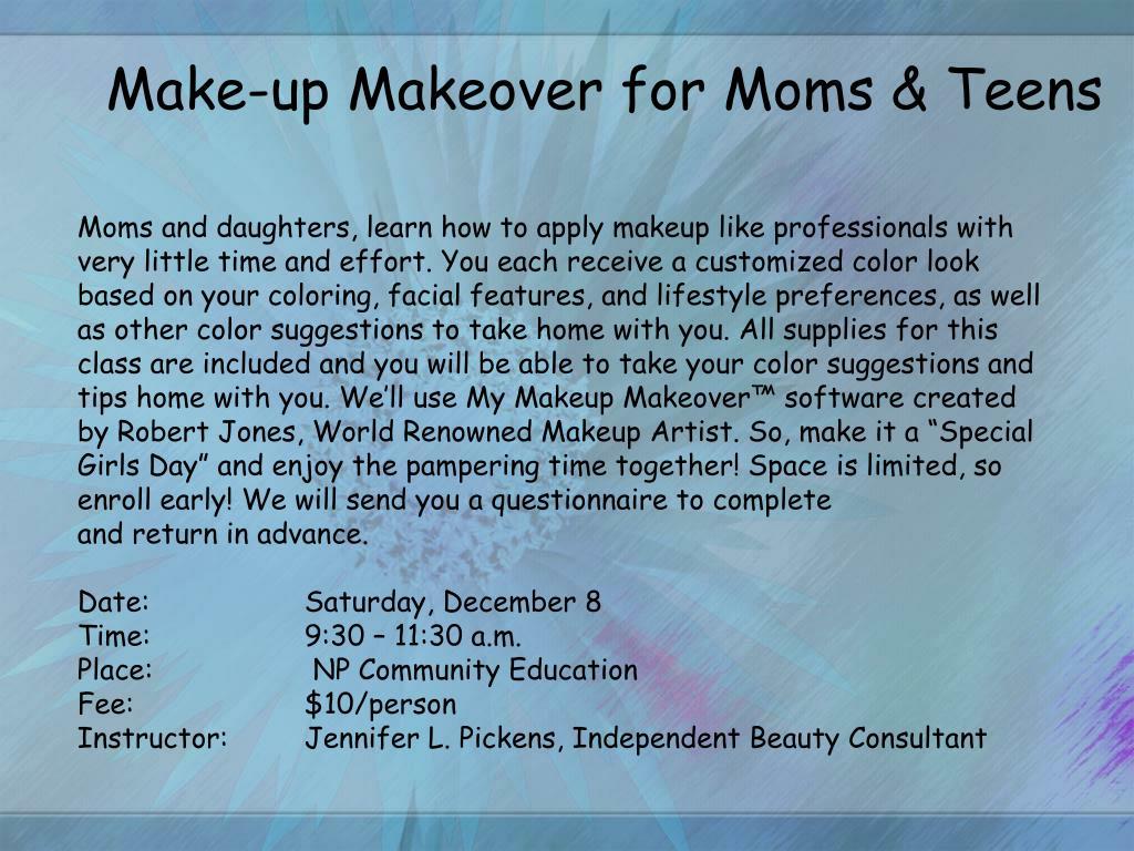 Make-up Makeover for Moms & Teens