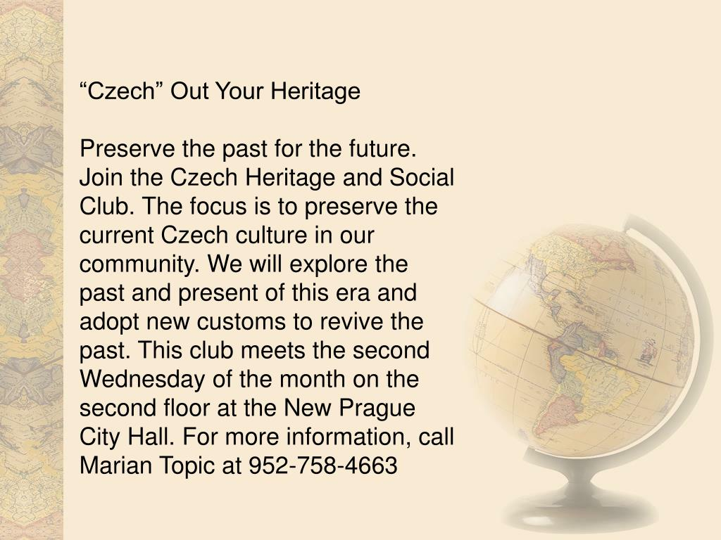 """""""Czech"""" Out Your Heritage"""