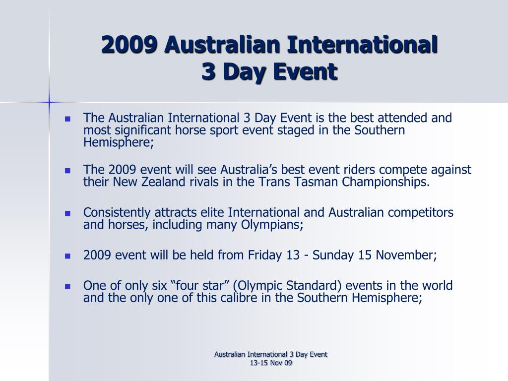 2009 Australian International